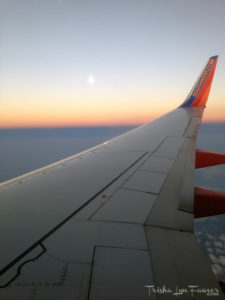 Southwest Airlines Wing at Sunset