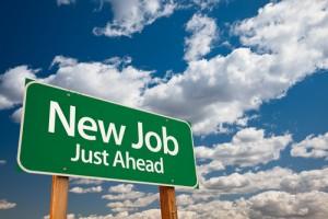 new job just ahead sign