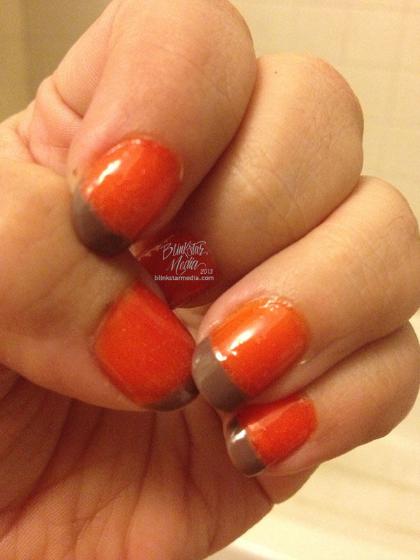 Orange & Brown Manicure