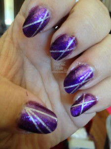 "Sinful Colors ""I Love You"" with Hedy's man.ish.ma ""Space Silver"" underneath"