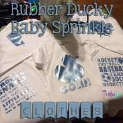 Rubber Ducky Baby Sprinkle: The Clothes