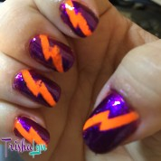 Lightning Bolt Manicure using NailVinyls