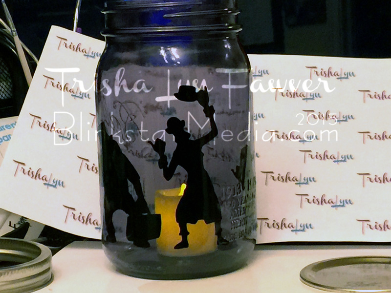 Hitchhiking Ghosts Mason Jar Luminary Trisha Lyn