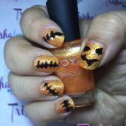 Impromptu Halloween Manicure 2015