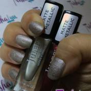 Julep Matte Metallic Fall Manicure