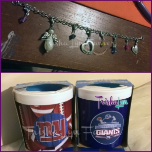 Mother's Charm Bracelet & NY Giants Drink Coolers