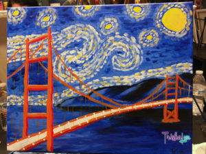 Starry Night Over the Gate in Progress