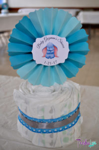 Baby Dumbo Baby Shower Diaper Cake Centerpieces