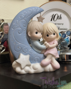 "Precious Moments ""I Love You To The Moon And Back"" Bisque Porcelain Figurine"