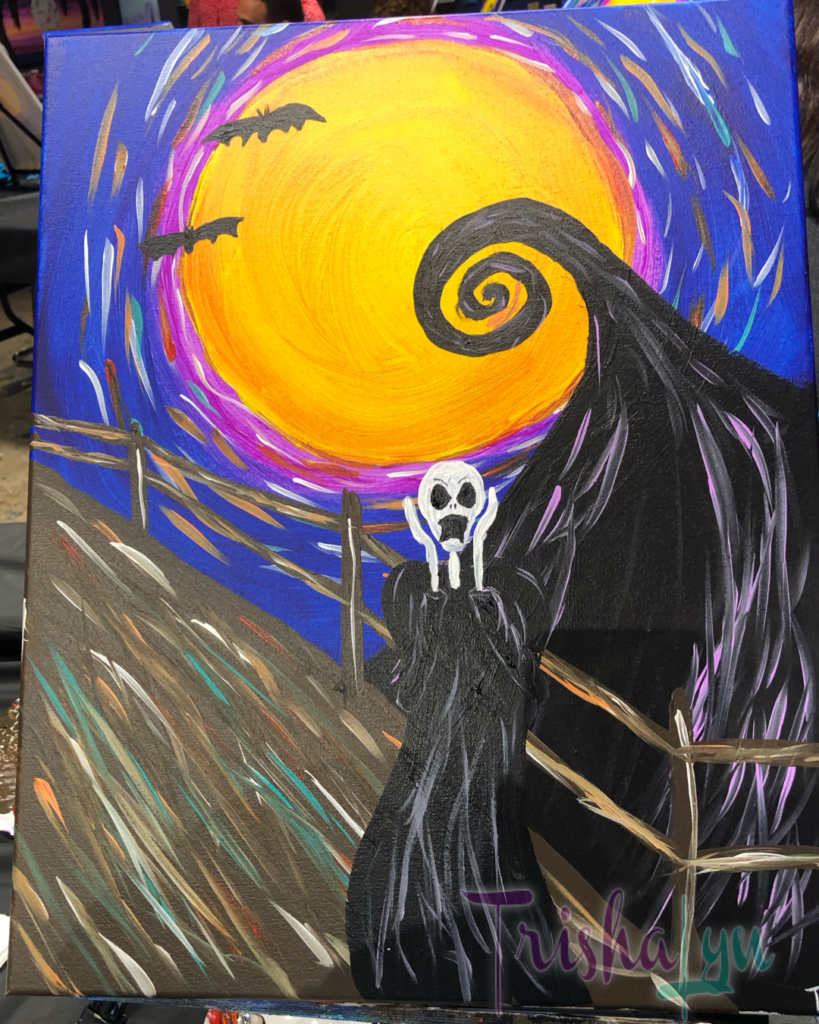 Halloween Scream Painting
